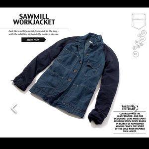Madewell Rivet & thread denim jean work jacket M